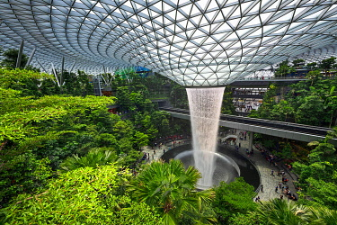 IBLNEX05135596 Jewel Indoor Waterfall, Changi Airport, Singapore, Asia