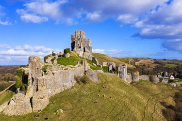 ENG16689AWRF Corfe Castle, Corfe, Dorset, England, UK