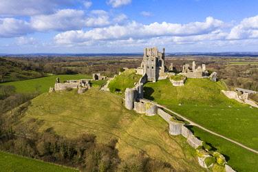 ENG16679AW Corfe Castle, Corfe, Dorset, England, UK