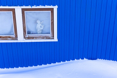 Detail of a house window in Ilulissat