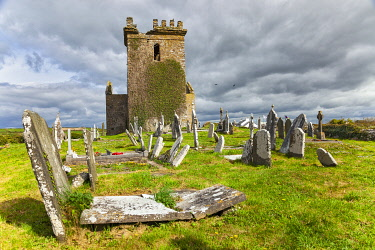 IRL1140 Old Templetown Church ruin and graveyard, Templetown, County Wexford, Leinster, Ireland.