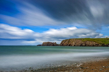 IRL1148 View looking West along Annestown Beach,� The Copper Coast, County Waterford,�Munster, Ireland.