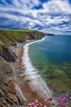 IRL1149 View looking East along Annestown Beach,� The Copper Coast, County Waterford,�Munster, Ireland.
