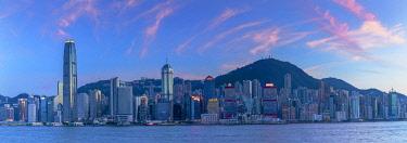CH12401AW Skyline of Hong Kong Island at sunset, Hong Kong
