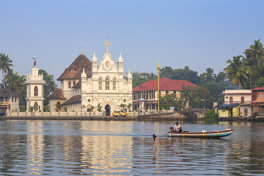 IN04408 India, Kerala, Alappuzha (Alleppey), Alappuzha (Alleppey) backwaters, St. Mary Forane Church