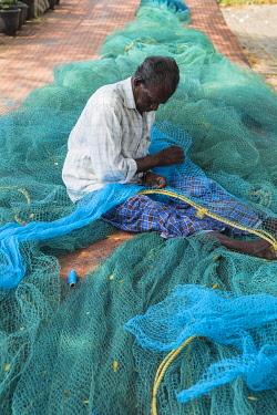 IN04491 India, Kerala, Cochin - Kochi, Chinese fishing nets