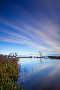 ENG16751AW River Thurne Reflections, Norfolk Broads National Park, Norfolk, England