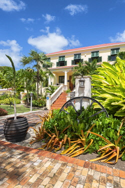 CLKAB129429 Sunbury Plantation House, the first colonial house of  Barbados Island, Lesser Antilles, West Indies