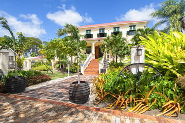 CLKAB129430 Sunbury Plantation House, the first colonial house of  Barbados Island, Lesser Antilles, West Indies