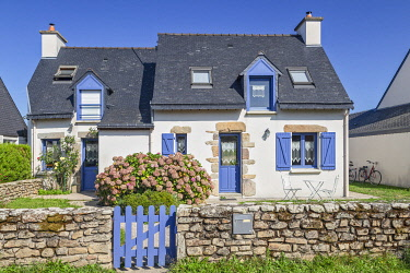 Brittany, Morbihan, Vannes, France. Typical house Island of Arz