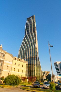 CLKGM128154 One of the modern tower in the skyline of Batumi. Batumi, Agiara region, Georgia.