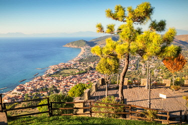 CLKEV123697 The view of the Cilentan Coast from Belvedere San Costabile, Cilento, Salerno province, Campania, Italy