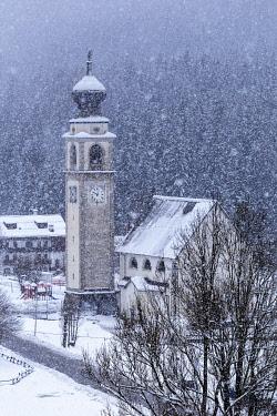 CLKFM130009 Italy,Veneto,Belluno district,Boite Valley,the Church of Saints Simone and Taddeo in Borca di Cadore