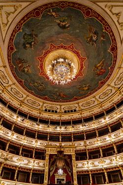CLKSL123592 The Interior of Teatro Regio. Parma, Emilia Romagna, Italy