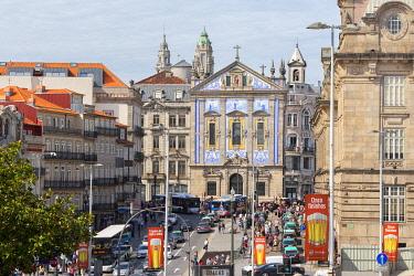 CLKDC124535 Almeida Garrett Square with Church of Santo Antonio dos Congregados, Porto, Porto district, Norte Region, Portugal