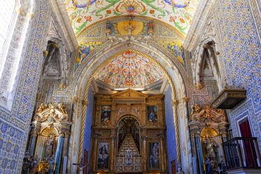 CLKDC124992 Inner view of Capela de Sao Miguel (Saint Michael's Chapel) in the University of Coimbra, Coimbra, Coimbra district, Centro Region, Portugal.