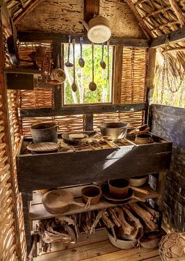 CYI1058AW Rankine House, interior, Heritage Garden, Queen Elizabeth II Botanic Park, North Side, Grand Cayman, Cayman Islands