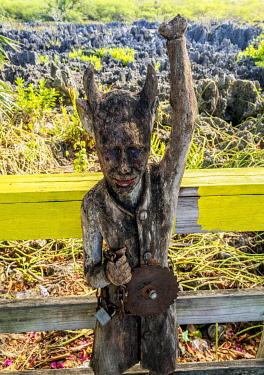 CYI1093AW Devil Figure in Hell, West Bay, Grand Cayman, Cayman Islands