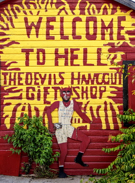 CYI1094AW The Devils Hangout Gift Shop, detailed view, Hell, West Bay, Grand Cayman, Cayman Islands