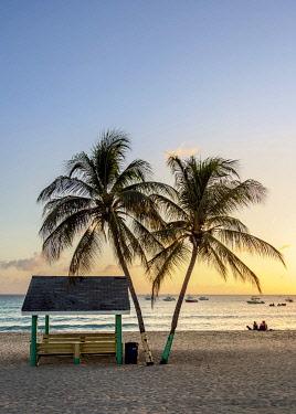 CYI1101AW Seven Mile Beach at sunset, West Bay, Grand Cayman, Cayman Islands