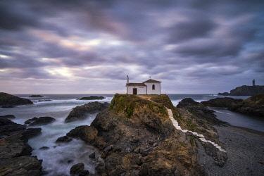 CLKAC128415 Ermita da Vire do Porto, Valdovino, La Coruna, Galicia, Spain