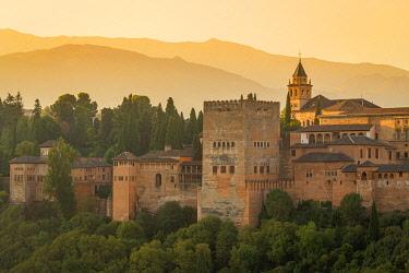 CLKEV120306 Alhambra from Mirador de San Nicolas, Granada, Andalusia, Spain