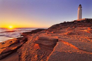 CLKEV122658 Sunset at Cape Trafalgar, Cadiz province, Costa de la Luz, Andalusia, Spain