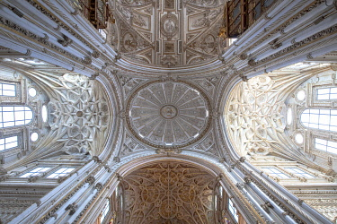 CLKFR125593 Central Dome of Mosque� Cathedral of Cordoba, Cordoba district, Andalusia, Spain