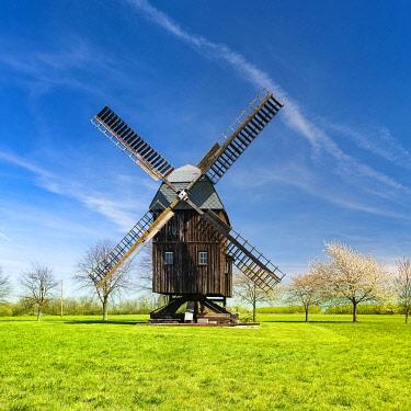 IBLAVI05477216 Buck Windmill Bechstedtstra�, Isseroda, Thuringia, Germany, Europe