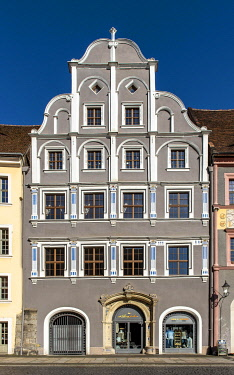 IBLPSI05489824 Gabled house with Renaissance facade, Lower market, Gorlitz, Germany, Europe