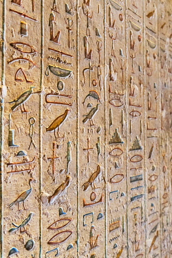 EGY1692AW Valley of the Kings, burial chamber decorated with bas-relief in the tomb of Ramses IX, Nile Valley, Luxor, Egypt
