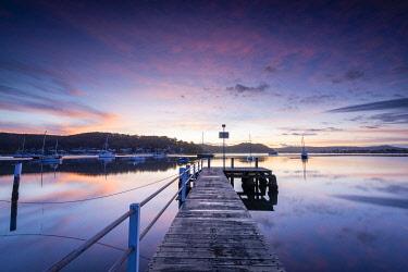 AUS4198AW Hardys Bay Jetty on Brisbane Water. Hardys Bay, Central Coast, New South Wales, Australia