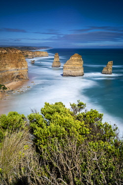 AUS4228AW View over the Twelve Apostles from Castle Rock. Twelve Apostles, Great Ocean Road National Park, Victoria, Australia