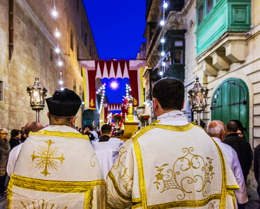 MLT0692 Maltese Islands. Malta. The National feast of St.Paul Shipwreck, the patron saint of the islands which takes place in the capital Valletta on the 10th of February of each year. Unesco.