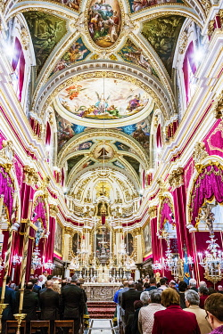 MLT0714 Maltese Islands. Malta. The National feast of St. Joseph in Rabat, which falls each year on the 18th of March.