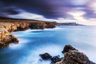 MLT0750 Maltese Islands. Malta. A storm in the cliffs in the suburbs of Mellieha.