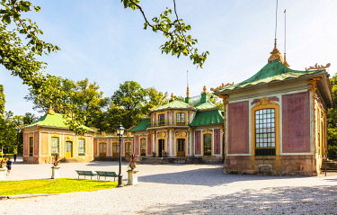 SWE4421 Europe. Sweden. Stockholm. The environs of the Baroque Gardens and Royal Palace at Drottningholm Palace. Unesco.