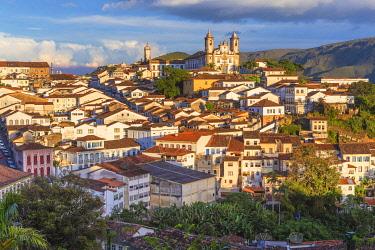 BZ04040 Cityscape, old town, Ouro Preto, Minas Gerais state, Brazil