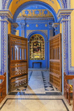 IN08577 Church hall, Constantia building interior, 1802, La Martiniere College, Lucknow, Uttar Pradesh, India