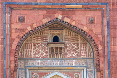 IN08592 Qila Kuhna Masjid mosque, Purana Qila, Old Fort, Delhi, India