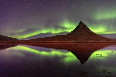 ICE42383 Aurora Borealis (Northern Lights) display, Snaefellsnes Peninsula, West Iceland