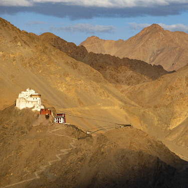 IND8601 India, Indus Valley, Leh, Namgyal Tsemo Gompa, a former royal palace which was built by King Sengge Namgyal in the 17th century