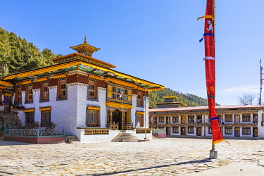 BHU1943AW Lhodrak Kharchu monastery, Jakar, Bumthang District, Bhutan