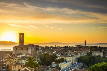 ITA15470 Italy. Umbria. Perugia. The historical centre of the town of Perugia.