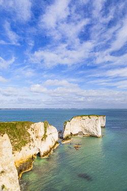 ENG16896AWRF The Foreland or Handfast Point, Old Harry Rocks, Jurassic Coast, Swanage, Dorset, England, UK