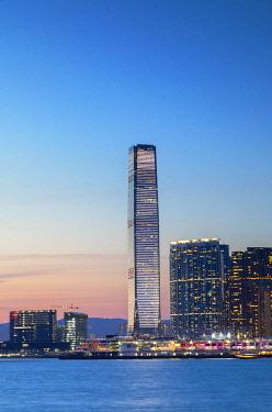 CH12437AWRF International Commerce Centre (ICC) at sunset, Hong Kong