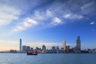 CH12438AWRF Skyline of Tsim Sha Tsui and Victoria Harbour, Hong Kong