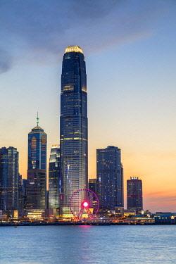 CH12442AWRF Skyline of Hong Kong Island at sunset, Hong Kong