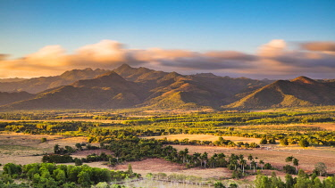 CUB2524AW Escambray Mountains and Trinidad valleys at sunset, Sancti Spritus, Cuba