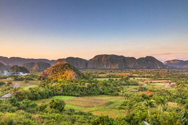 CUB2571AW Vinales Valley at sunset, Pinar del Rio Province, Cuba
